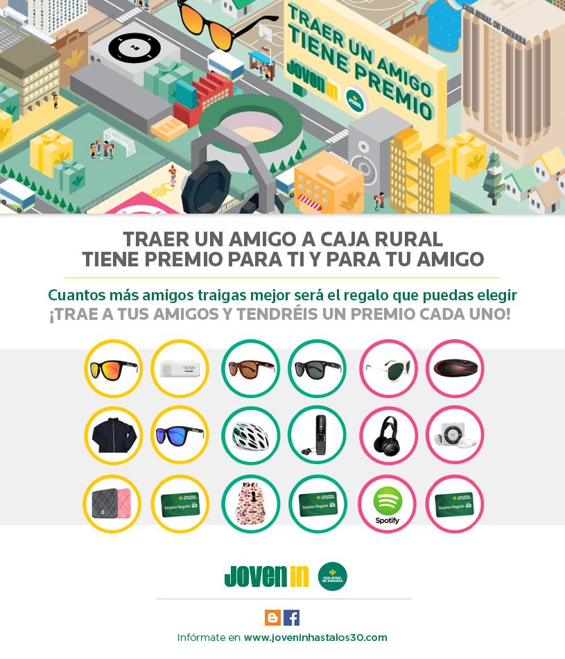 Traer a un amigo a caja rural de navarra tiene premio for Caja rural de navarra oficinas