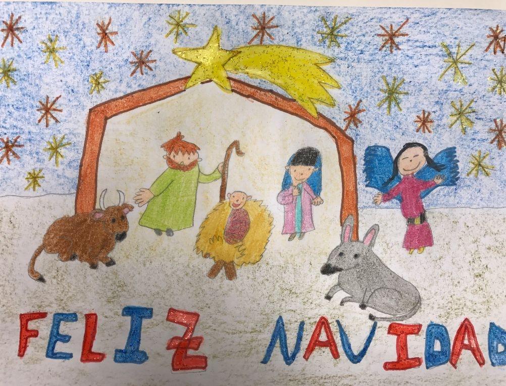Dibujos De Navidad Hechos Por Ninos.Concurso Dibujo Navidad En Familia Blog De Caja Rural De