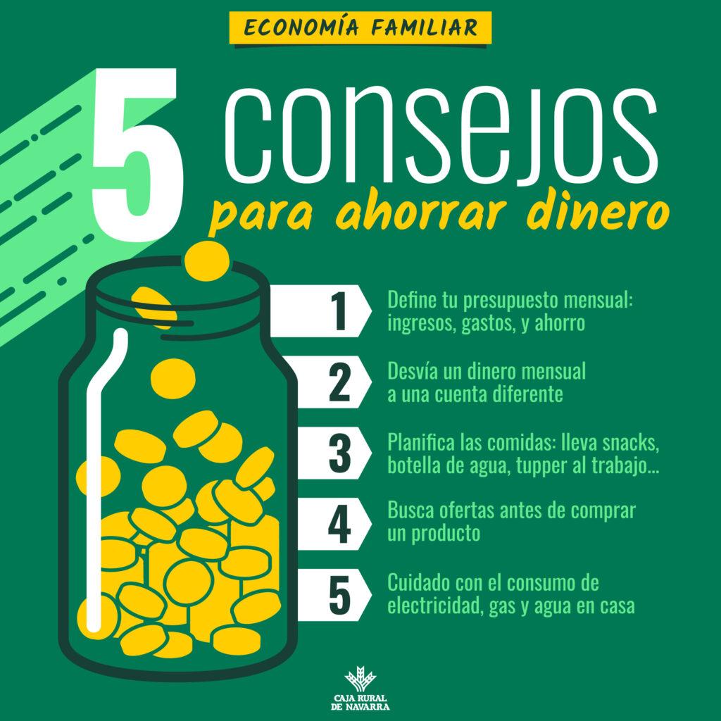 Cinco consejos para ahorrar dinero