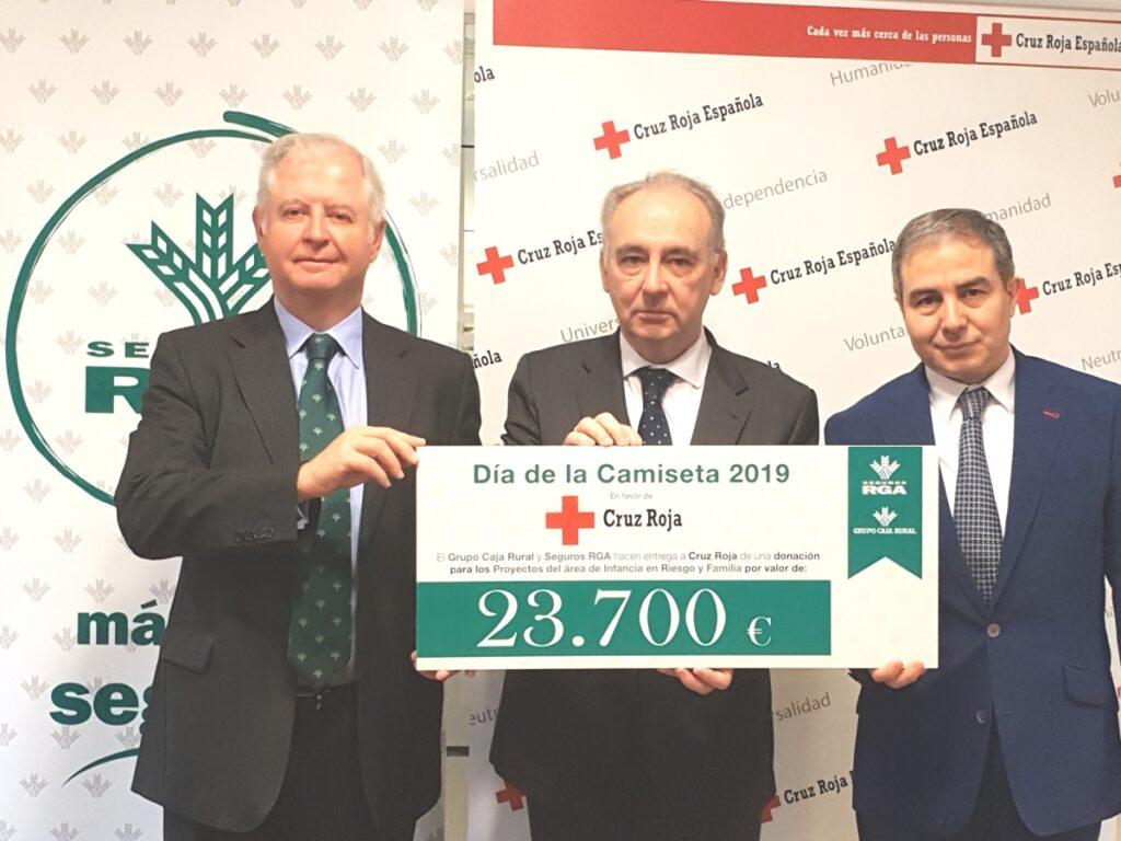 Entrega Cheque Caja Rural Cruz Roja