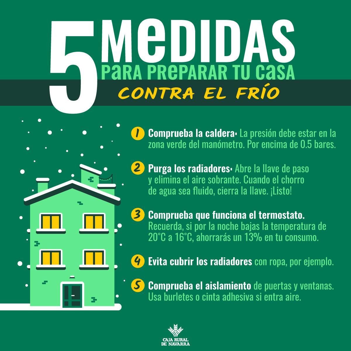 5 medidas contra el frío